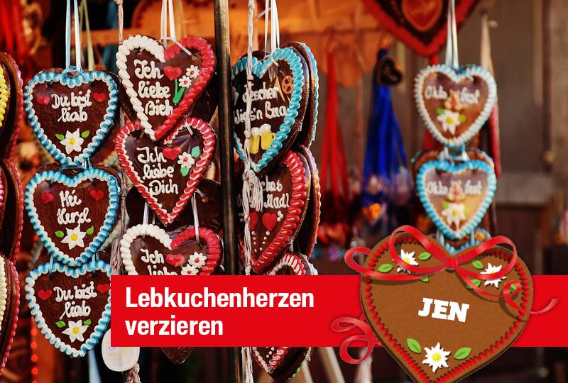 Veranstaltung im JEN | Lebkuchenherzen verzieren | EKZ Jenfeld